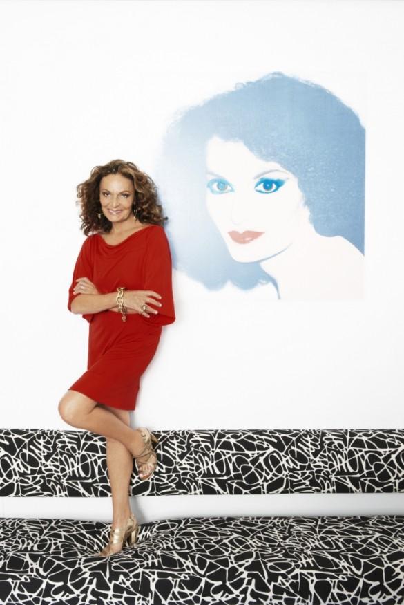 Diane von Furstenberg_ Lorenzo Agius Portrait_Retrato de Diane feito por Andy Warhol