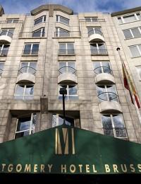 hotusa eurostars montgomery brussels hotel exteriors building edificio parking
