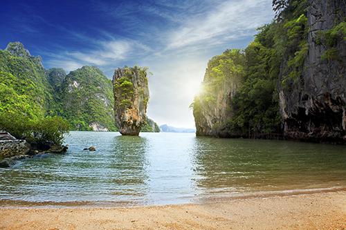 An island in Thailand