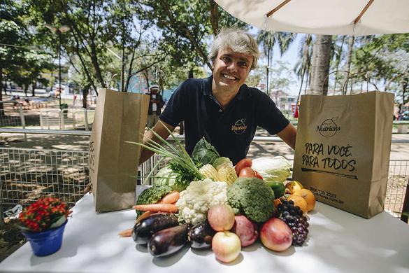 O Festival Percurso, realizado na periferia de São Paulo, busca discutir como disponibilizar alimentos saudáveis e sem veneno para todos. © Christian Braga / Greenpeace