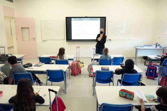 alunos durante aula preparatória de inglês