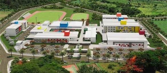imagem 3D do campus - projeto completo